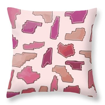 Color Pattern 2 Throw Pillow