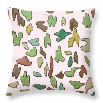 Color Pattern 3d Throw Pillow