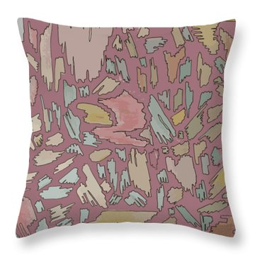 Color Pattern 4 Throw Pillow