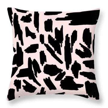 Color Pattern 5 Black Throw Pillow