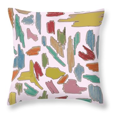 Color Pattern 5 Throw Pillow
