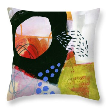Color, Pattern, Line #3 Throw Pillow by Jane Davies
