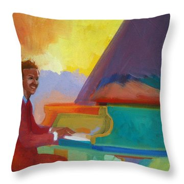 Color Piano Justin Levitt Steinway Throw Pillow