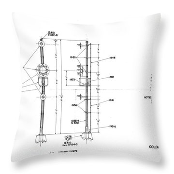 Color Position Light Ground Signals Throw Pillow