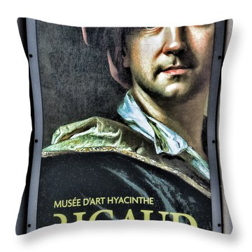 Color Rigaud Musee D' Art Perpignan France Up Close  Throw Pillow