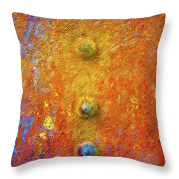 Color Rivets Throw Pillow