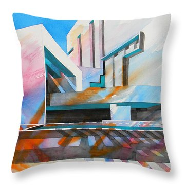 Throw Pillow featuring the painting Color Simphony by J- J- Espinoza