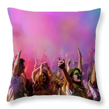 Color Sky Throw Pillow