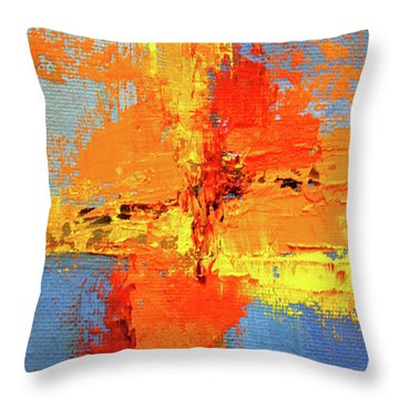 Color Splash 2 Throw Pillow