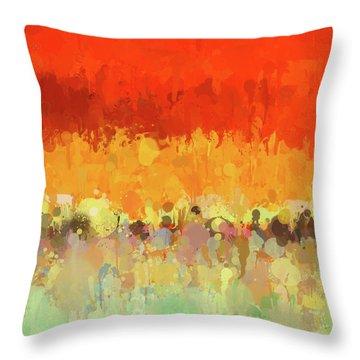 Color Splash Throw Pillow