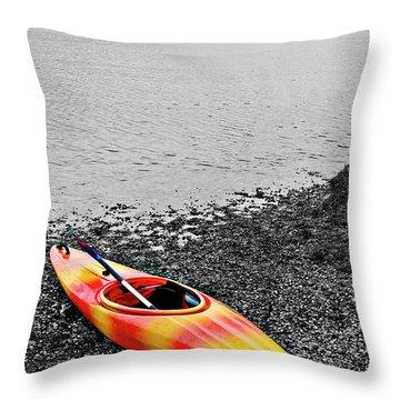Color Splash Throw Pillow by Meirion Matthias