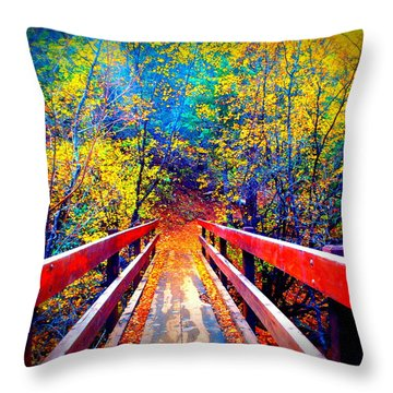 Color Springs Throw Pillow