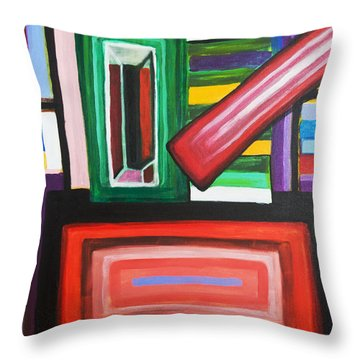 Color Squares Throw Pillow
