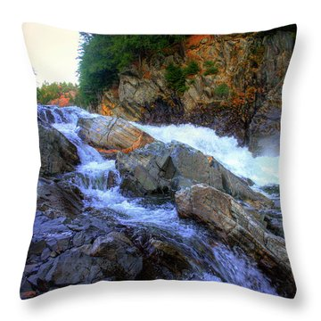 Color Steps At Livermore Falls Throw Pillow