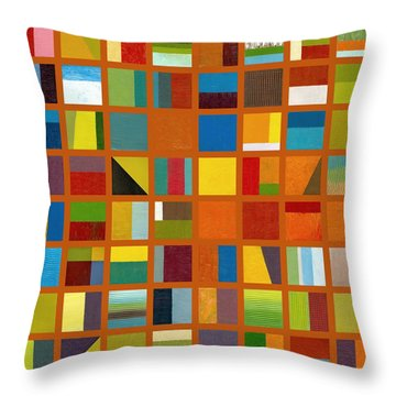 Color Study Collage 66 Throw Pillow
