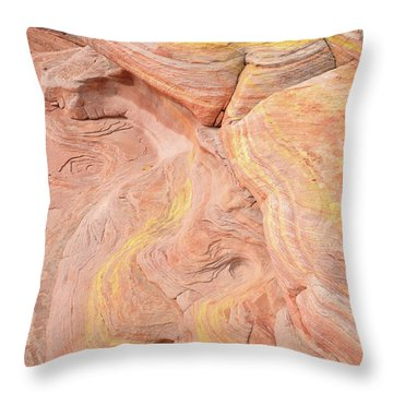 Throw Pillow featuring the photograph Color Swirls In Valley Of Fire State Park by Ray Mathis
