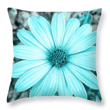 Color Trend Blue Blossom Throw Pillow