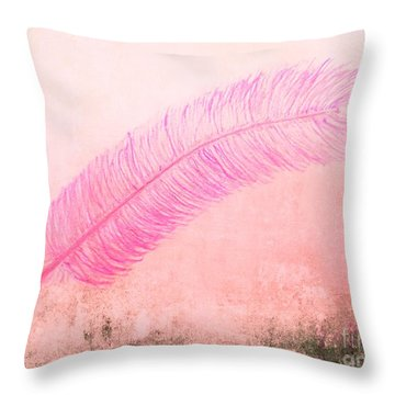 Color Trend Feather In The Wind Throw Pillow