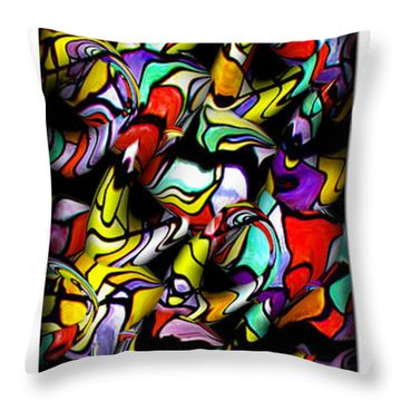 Color Unfolds Throw Pillow by Joan  Minchak