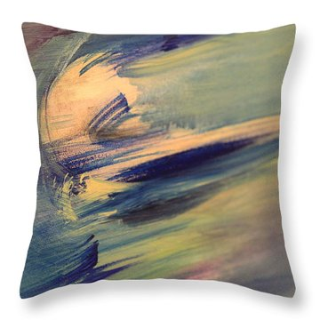 Color Washing Throw Pillow