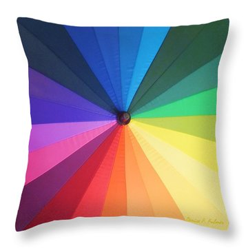 Color Wheel Throw Pillow by Denise Fulmer