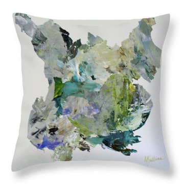 Color Whirl Throw Pillow by Mary Sullivan