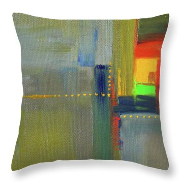 Throw Pillow featuring the painting Color Window Abstract by Nancy Merkle