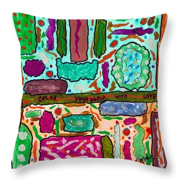 Color Your World With Love Throw Pillow