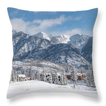 Colorad Winter Wonderland Throw Pillow by Darren White