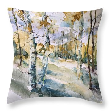 Colorado Aspens And Cottonwoods Throw Pillow