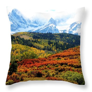 Colorado Autumn 2016 San Juan Mountains  Throw Pillow
