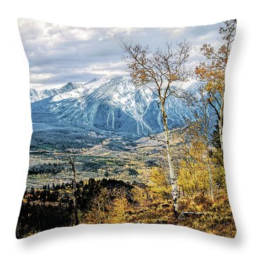 Throw Pillow featuring the photograph Colorado Autumn by Jim Hill