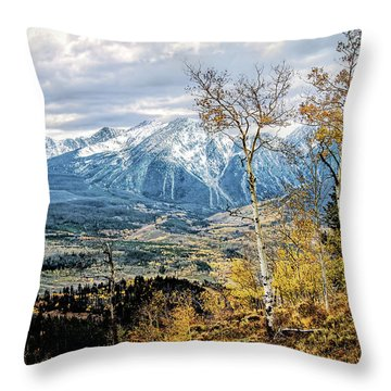 Colorado Autumn Throw Pillow