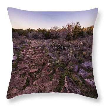 Colorado Bend State Park Gorman Falls Trail #1 Throw Pillow by Micah Goff