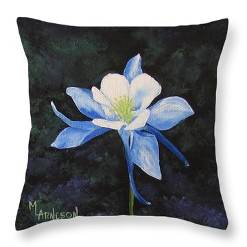 Colorado Blue Throw Pillow by Mary Arneson