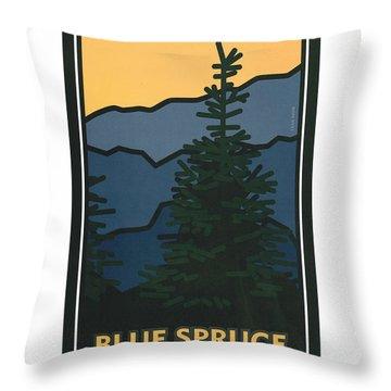 Colorado Blue Spruce Throw Pillow