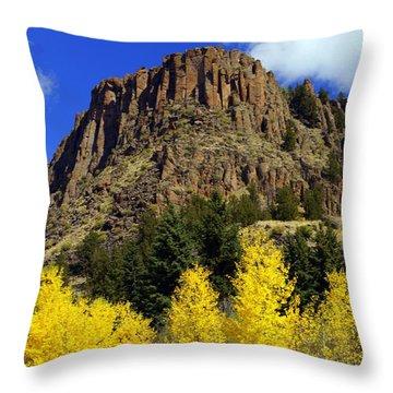 Colorado Butte Throw Pillow by Marty Koch