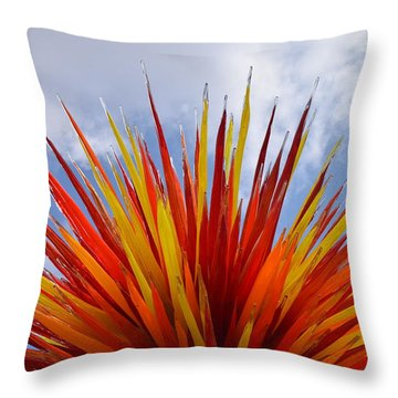 Colorado By Dale Chihuly Throw Pillow