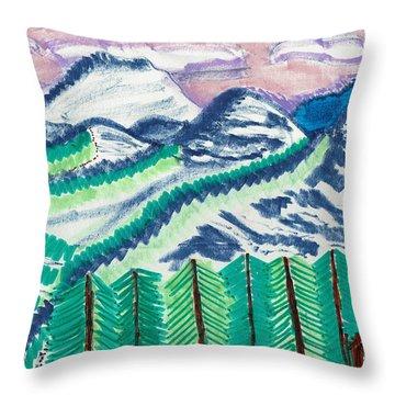 Colorado Cabin Throw Pillow