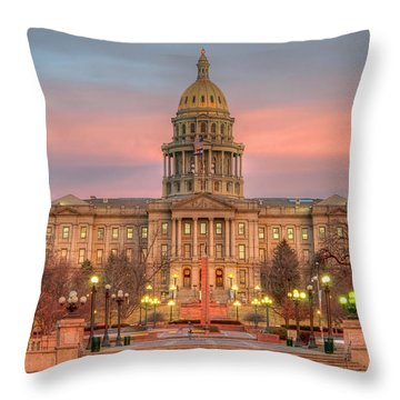 Throw Pillow featuring the photograph Colorado Capital by Gary Lengyel