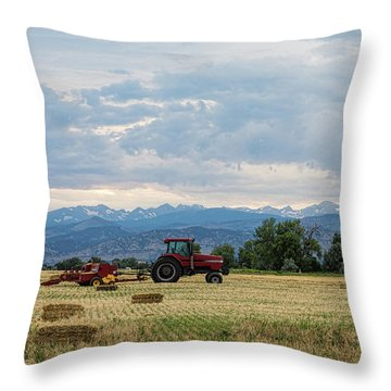 Throw Pillow featuring the photograph Colorado Country by James BO Insogna