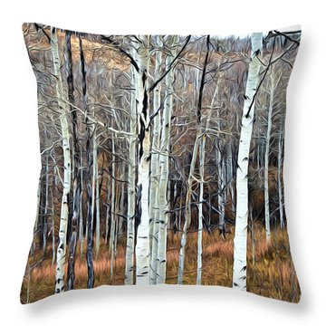 Colorado Fall Aspen Throw Pillow by James Steele