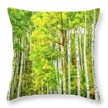 Colorado Fall Foliage Throw Pillow