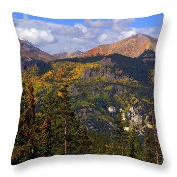 Colorado Fall Throw Pillow by Marty Koch