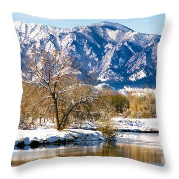 Colorado Flatirons 2 Throw Pillow
