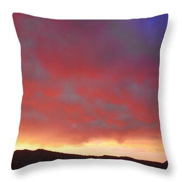 Colorado Front Range Rocky Mountains Foothills Sunset Throw Pillow by James BO  Insogna
