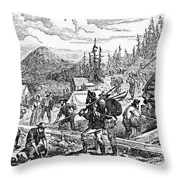 Colorado: Gold Mining, 1859 Throw Pillow by Granger