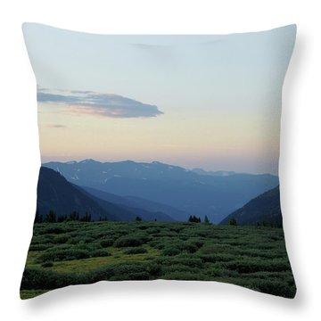Colorado High Country Throw Pillow