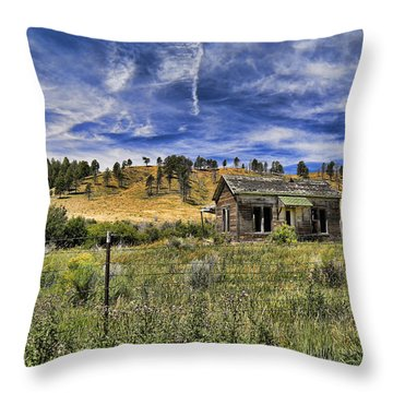 Colorado Homestead Throw Pillow by John Bushnell