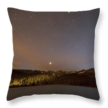 Throw Pillow featuring the photograph Colorado Indian Peaks Stellar Night by James BO Insogna
